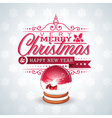 Christmas with magic snow globe vector image