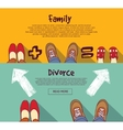Family relations and divorce people horizontal vector image