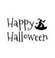 Witch Hat for Halloween and bats Happy Halloween vector image