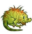 iguana in cartoon style vector image