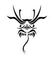 tribal dragon tattoo vector image