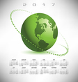 A 2017 global communications calendar vector image vector image