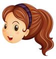 A face of a girl with a headband vector image