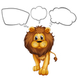 A strong lion with empty callouts vector image vector image