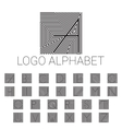 Alphabet brand letters as logo vector image