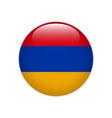 armenia flag on button vector image