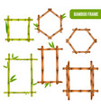bamboo frames realistic set vector image