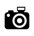 black icon camera cartoon vector image