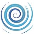 blue watercolor spiral vector image