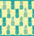 blue yellow tribal pineapples vector image vector image
