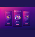 brand identity app interface template vector image vector image
