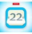 Calendar App Icon Flat Style Design vector image