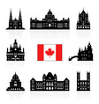 canada icon travel landmarks vector image