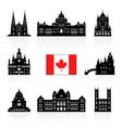 canada icon travel landmarks vector image vector image