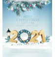 christmas and new year holiday background with vector image vector image