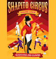 circus professions isometric concept banner vector image vector image