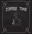 coffee cup on blackboard vector image vector image