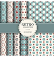 Collection of seamless patterns with polka dot vector image vector image