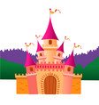 colorful castle vector image vector image