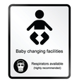 Comical baby changing facilities Information Sign vector image vector image