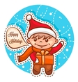 cute little santa boy vector image