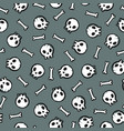 cute skulls seamless pattern vector image