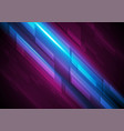 dark blue and purple glowing hi-tech abstract vector image vector image