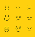 Different schematic face emotions Lineart concept vector image