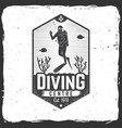 diving centre vector image vector image