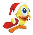 Duck santa klaus vector image