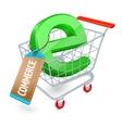 E-commerce shopping cart concept vector image vector image