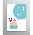 Eat me phrase lettering vector image