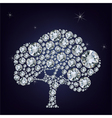Fairy tail tree made from diamonds vector image vector image
