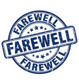 farewell blue grunge stamp vector image vector image