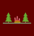 flat icon in shading style bonfire in forest vector image vector image