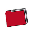 folder file document paper archive office supply vector image