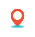 geo location pin icon flat vector image vector image