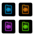 glowing neon clipboard with medical clinical vector image vector image