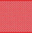 hand drawn red brick wall seamless vector image vector image