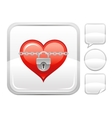 Happy Valentines day romance love heart Lock vector image vector image
