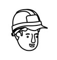 head man builder avatar character vector image vector image