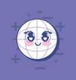 kawai global sphere icon vector image vector image