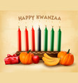 kwanzaa holiday background with old paper vector image vector image