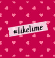 like time background for social media vector image vector image