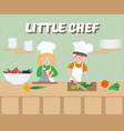 Little chef poster children cook vector image