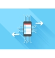 Mobile Data Processing vector image
