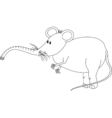 Mouzifant line-art vector image vector image