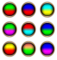 Nine multi-colored icons vector image