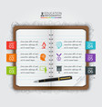 note education infographic vector image
