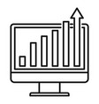 online report graph icon outline style vector image vector image